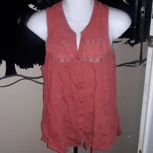 Womens sz S American Eagle rustic red top